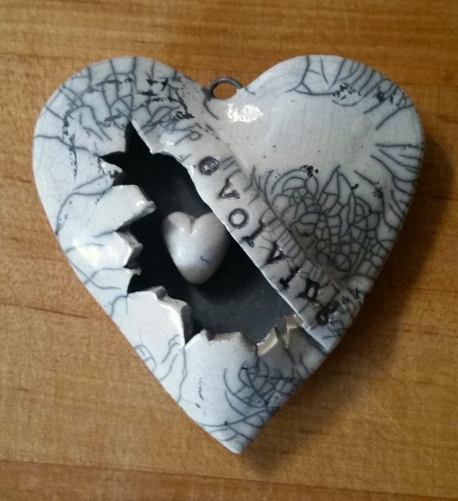 heart with a hole and another heart inside